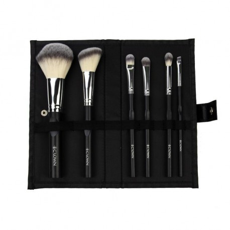 Essentials Professional Make-up Brushes (Black & Silver)