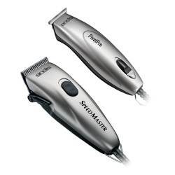Andis Pivot Motor Clipper / Trimmer Combo - Silver